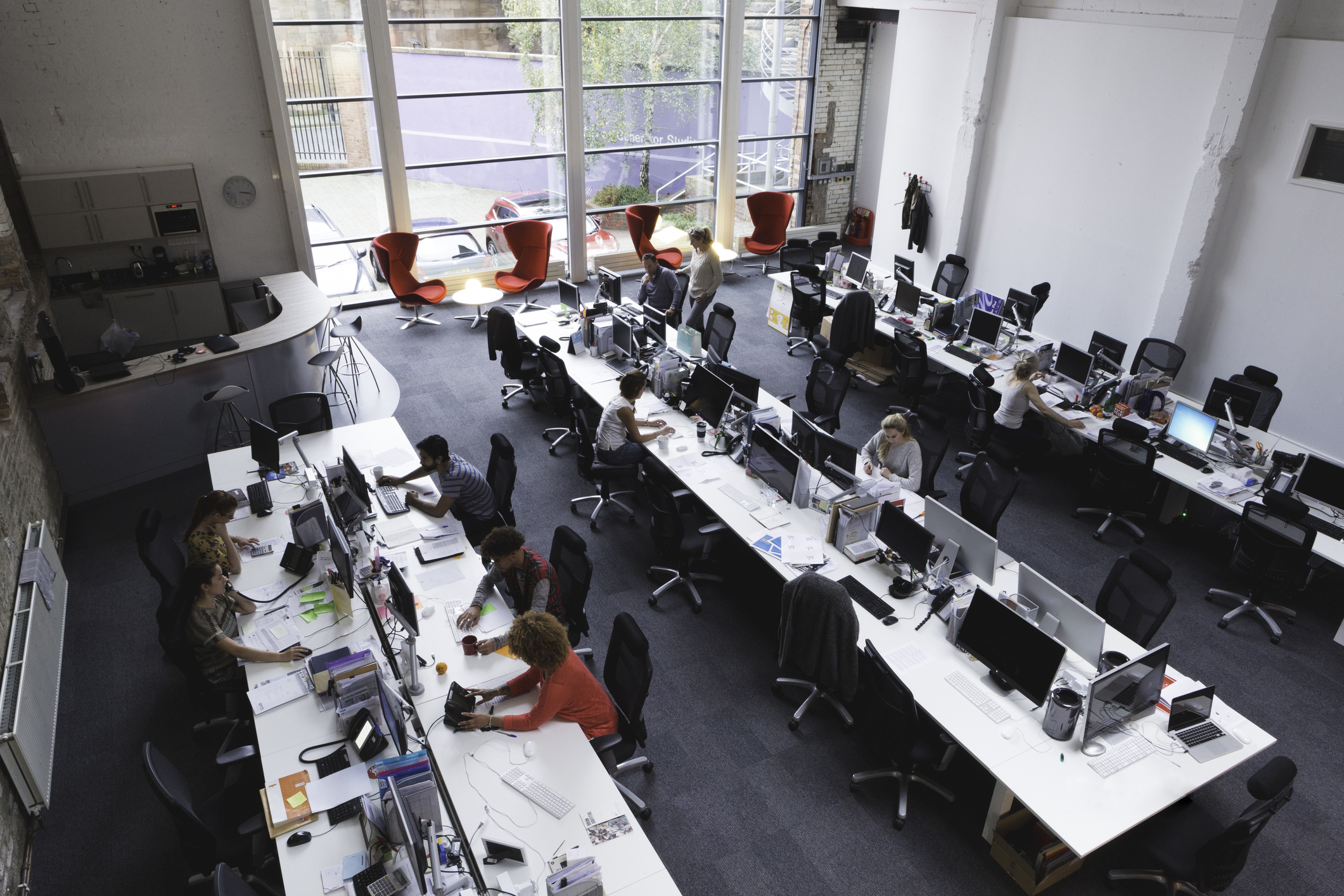 Open plan offices drive down face to face interactions and